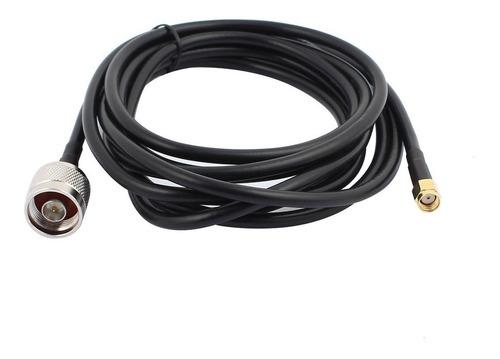 cable alargue coaxial uhf 1 metro hembra macho - factura a/b