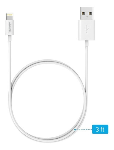 cable - anker - lightning a usb - iphone ipad apple mfi 90cm