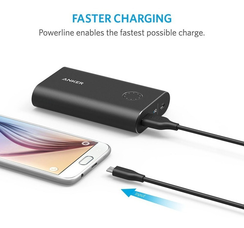 cable - anker - powerline micro usb 30 cm ideal quick charge