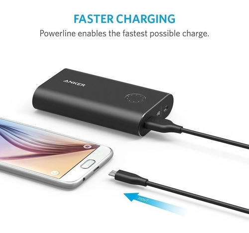 cable - anker - powerline micro usb 90 cm ideal quick charge