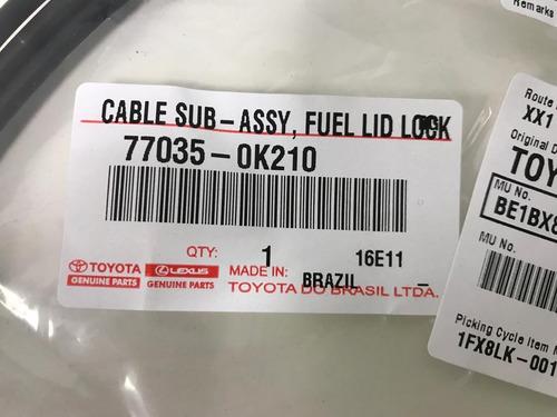 cable apertura tanque comb original toyota hilux 2005-2015