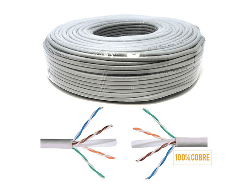 cable armado internet cctv 20m ethernet cat 6 cobre 100%