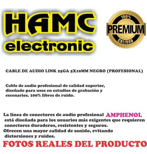 cable audio 2 plug 6,5 a 2 rca  amphenol  bajo ruido