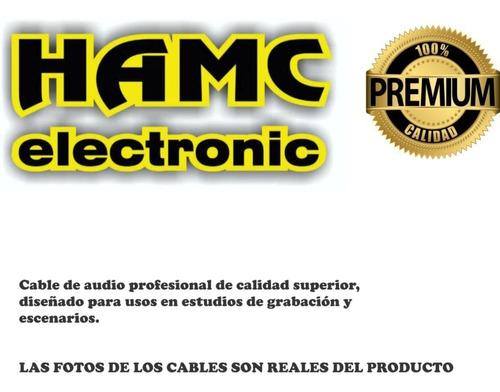 cable  audio 2 plug 6,5 mono a 2 rca macho metalico de lujo