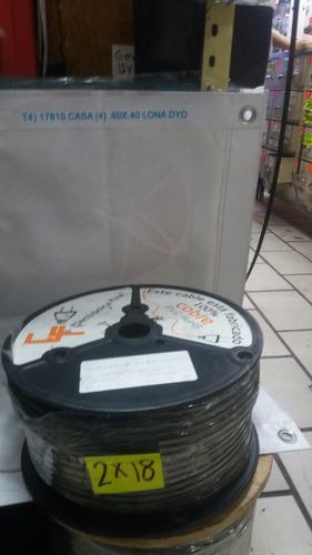 cable audio 2x18 uso rudo  pvc rohs
