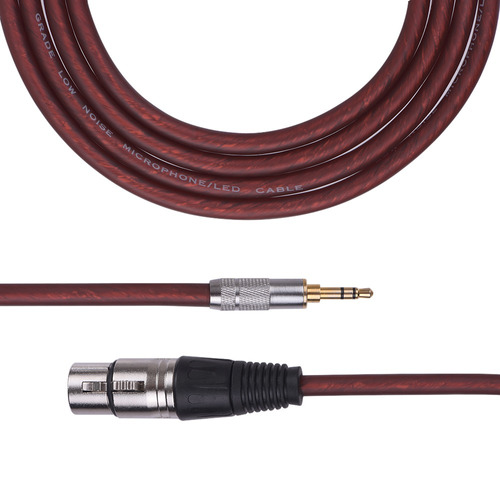 cable audio 3 metros / 10 pies cable xlr femenino a 3.5mm tr