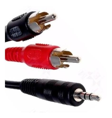 cable audio adaptador de 2 rca macho a un spika macho de 3 m