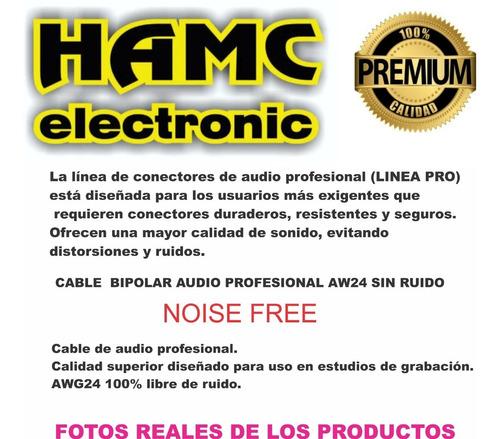 cable audio canon xlr macho a plug hembra balanceado x 1 mts