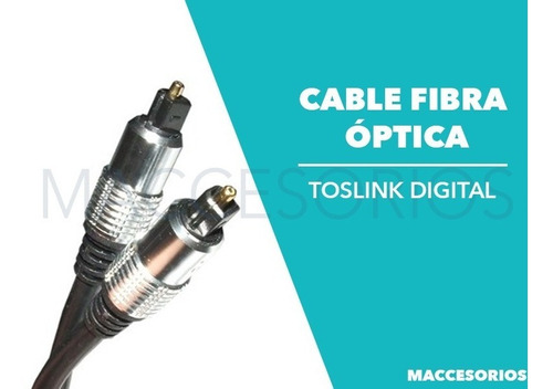 cable audio digital alta calidad fibra optica 1,5m toslink