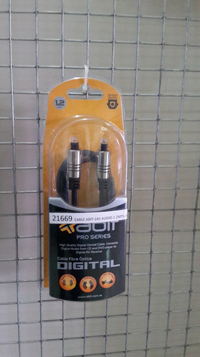 cable audio fibra optica abit-241 de 1.2mts alta definicion