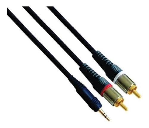 cable audio mini plug stereo a 2 rca 2 mts