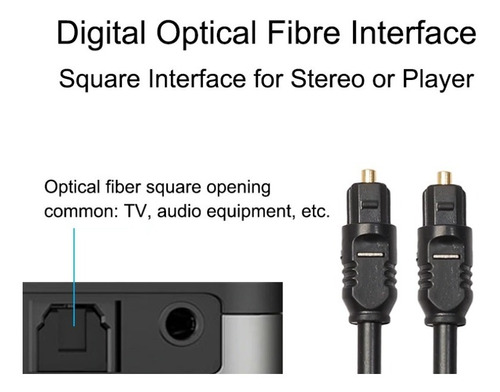cable audio optico 1.8mt toslink solidview