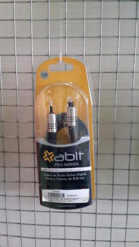 cable audio optico digital mini a toslink de 3.5mm / 1.8mts