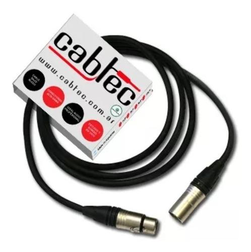 cable audio p/ microfono xlr canon neutrik 3 metros cabtec
