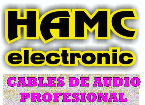 cable audio plug 3,5 stereo a 2 rca  metalico dorado x 5 mts