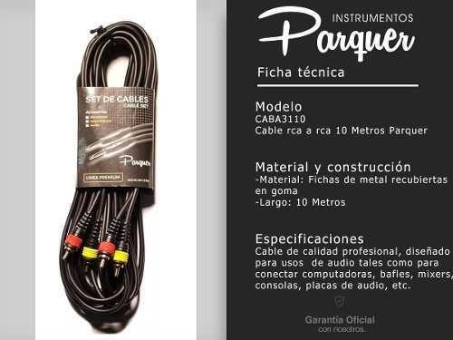 cable audio rca macho a rca macho 10 metros parquer cuota