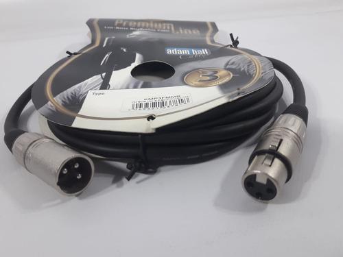 cable audio xlr 3 metros adam hall kmp3fmmb