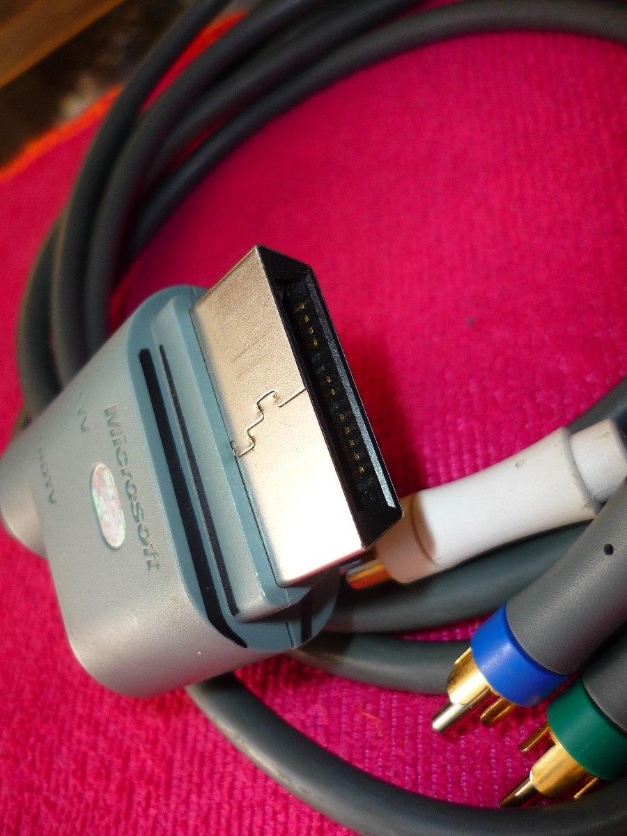 Cable Audio Y Video Xbox 360 Fat Rca Y Componentes