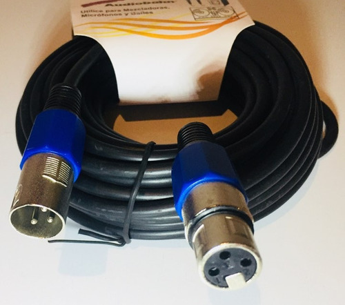 cable audiobahn para microfono plug cannon a jack cannon 10m