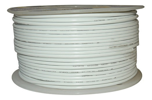 cable automotriz n°14, blanco, 105°c, 100m