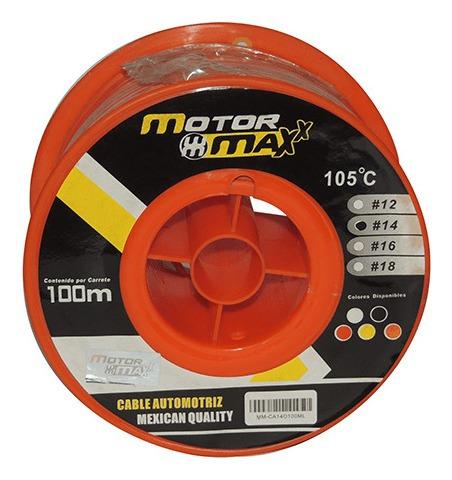 cable automotriz n°14, naranja, 105°c, 100m