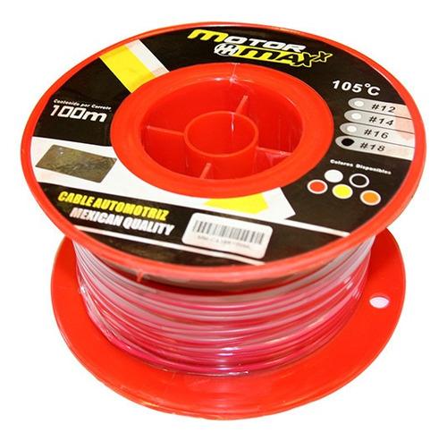 cable automotriz n°14, rojo, 105°c, 100m