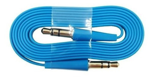 cable auxiliar 1 metro 3.5mm musica audio plano