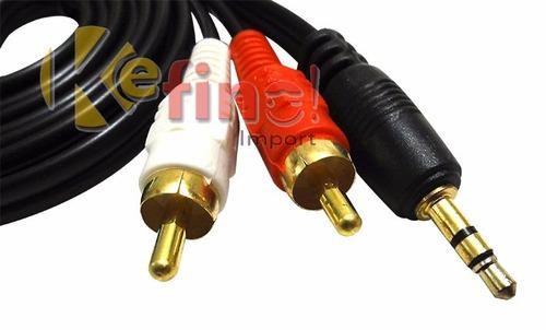 cable auxiliar audio mini plug 3.5mm a rca 1.5 mts