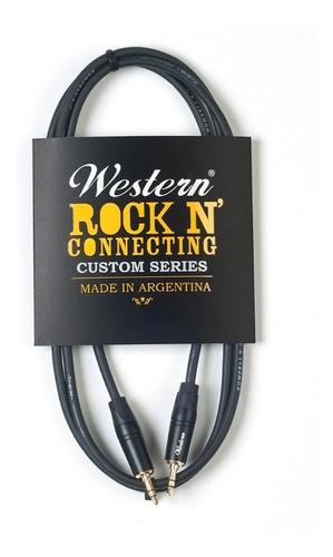 cable auxiliar mini plug estéreo 3m western mini30