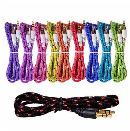cable auxiliar plug 3.5mm bocinas estereo auto