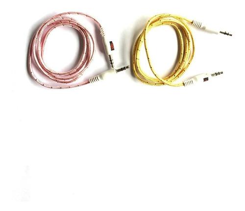 cable auxiliar plug a plug 3.5mm trenzado