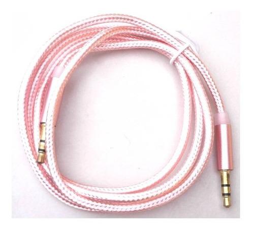 cable auxiliar plus a plus 3.5mm de 1mts punta dora nylon