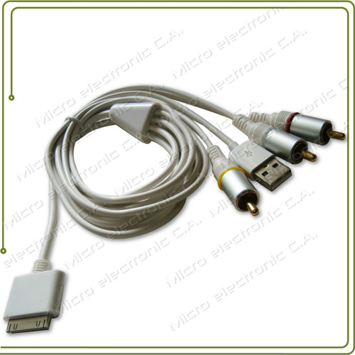 cable av tv ipod classic nano rca usb no para touch (245)
