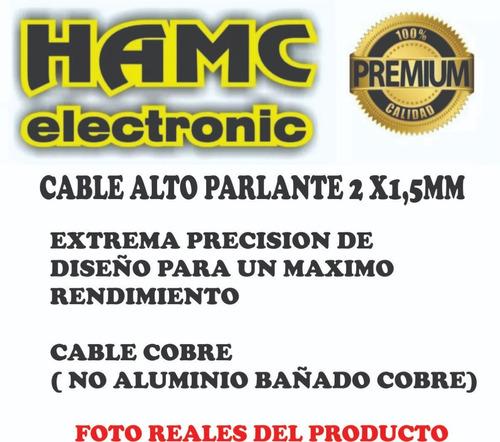cable bafle speakon a speakon 2 x 1,5mm  15 mts x 2 unidades