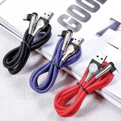 cable baseus usbc tipo l game mallado carga/sincroniza