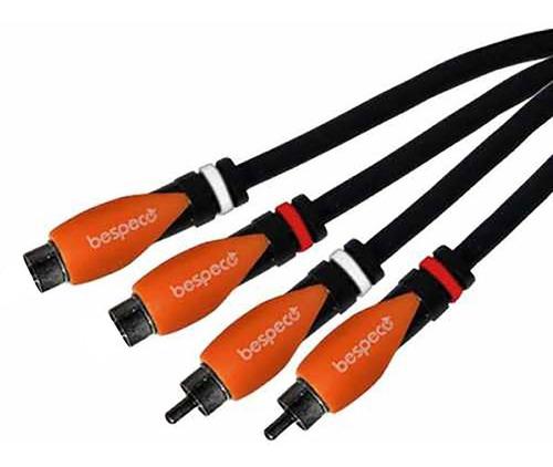 cable bespeco 2 rca hembra a 2 rca macho 1,80mts sl2x180
