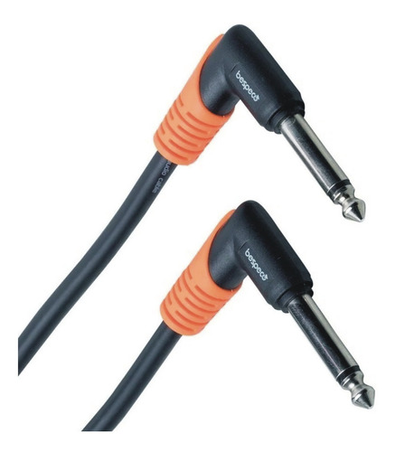 cable bespeco plug mono 90º 15 cm 3 x unidades slpp015x3