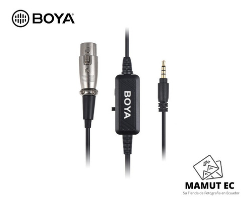 cable boya by-bca6 terminal xlr - 3.5mm trrs