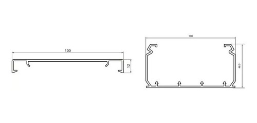 cable canal 100x50 mm fdc100x50 hellermann tyton caja x 12mt