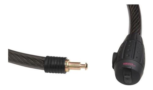 cable candado flexible llave redonda hd 1.5m mikels