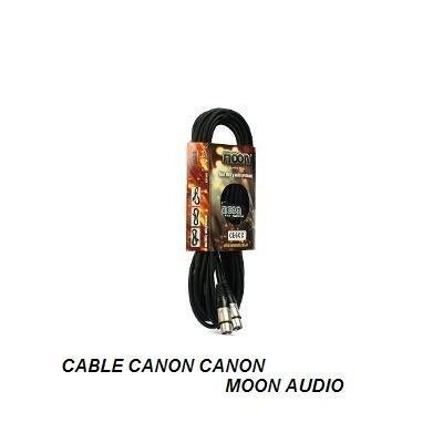cable canon canon 3mt - moon audio conectores metalicos