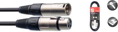 cable canon-canon 6mts stagg smc6 standard 6mm micrófono en cuotas