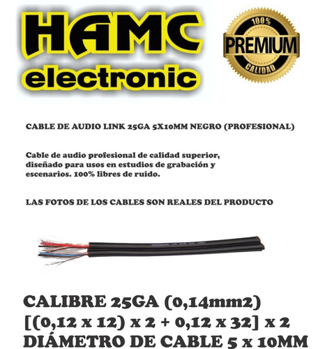 cable canon hembra  2 a plug 1/4 stereo 2 mts profesional