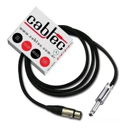 cable canon hembra xlr plug ts mono neutrik rean 25cm cabtec