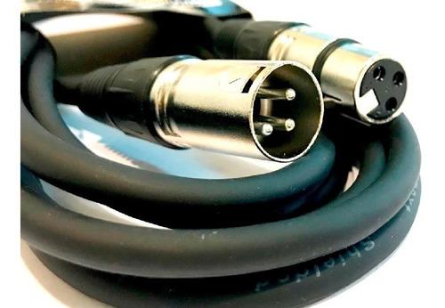 cable canon macho a canon hembra 3 metro xlr mallado pronext