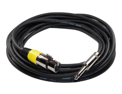 cable canon  plug microfono profesional sin ruido 6mts amar