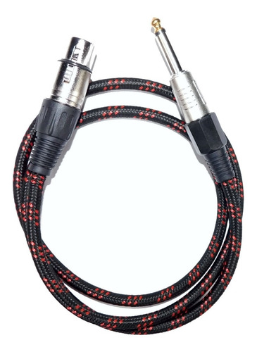 cable canon xlr hembra a plug profesional 3 mts