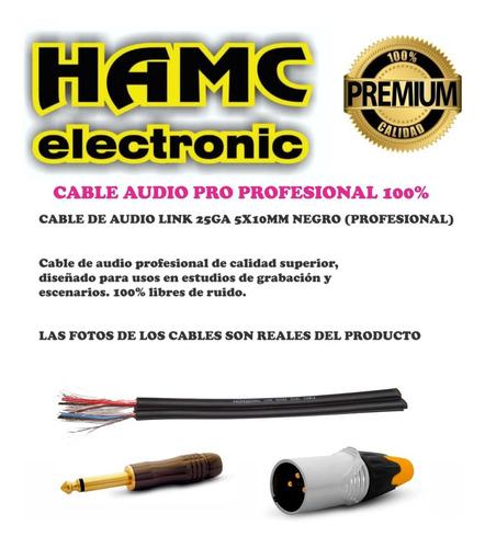 cable canon xlr macho a 2 plug mono 9 mts profesional 100%