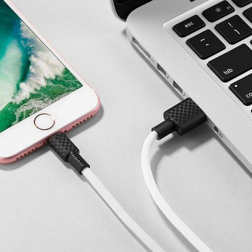 cable carga rápida carbono hoco x29 premium para iphone