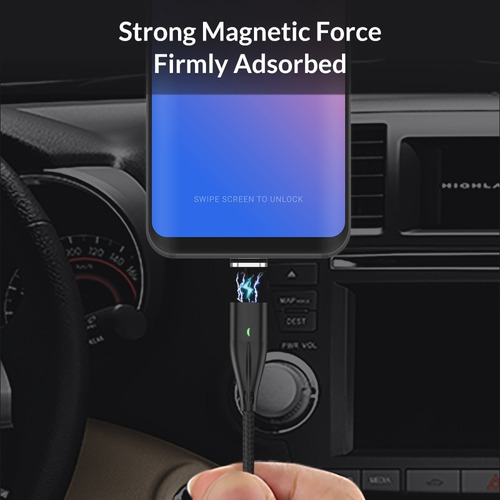 cable carga rapida y datos magnetico usbtipoc, micro, iphone